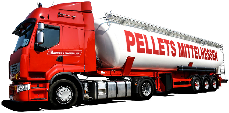 BAFIRE Qualitäts Pellets per Silofahrzeug geliefert